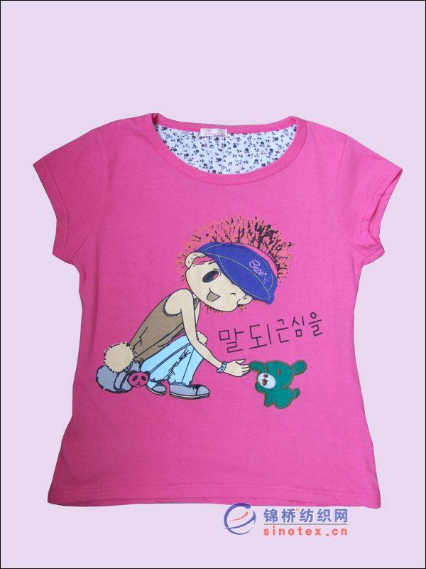 卡通棉t恤衫